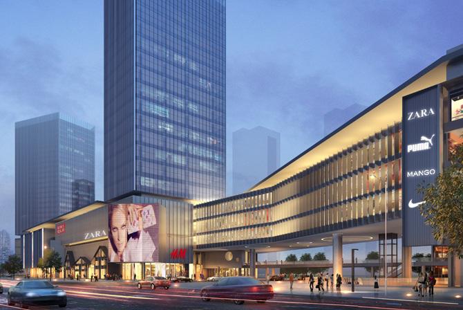 Commercial Mall Facade